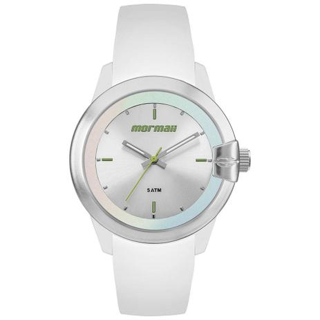 Relógio Mormaii Feminino Maui MO2035JJ 8B Silicone Branco - Relógio ... 0f6343121e