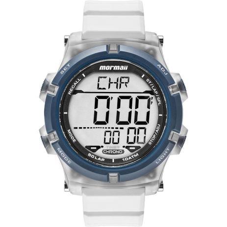 fbcc0bd6d3847 Relógio Mormaii Masculino Digital Acqua Pró MO1192AA 8B Silicone Branco