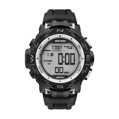 804bbe42550 Relógio Mormaii Masculino Digital Hora Mundi Ref  Mo1173d 8k ...