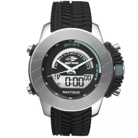 78ca8395f35 Relógio Mormaii Nautique Masculino Mova001 8k Prata Preto - Relógio ...