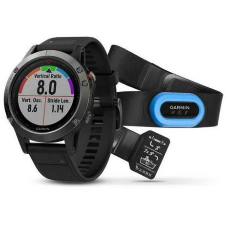 06b28b8b016 Relógio Multiesportivo Garmin Fenix 5 Cinza com Monitor Cardíaco no Pulso  Performer Bundle