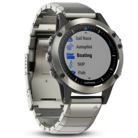Relógio Multiesportivo Garmin Fenix 5 Quatix Safira Prata com Monitor  Cardíaco no Pulso a9151ca695