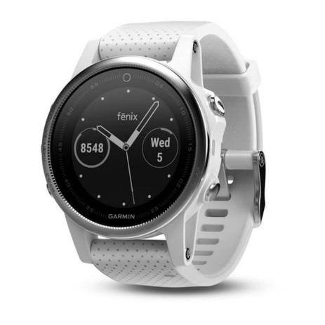 35abacba212 Relógio Multiesportivo Garmin Fenix 5S Carrara Branco com Monitor Cardíaco  no Pulso