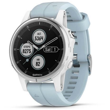 c2841fb1888 Relógio Multiesportivo Garmin Fenix 5S Plus Verde com Monitor Cardíaco no  Pulso