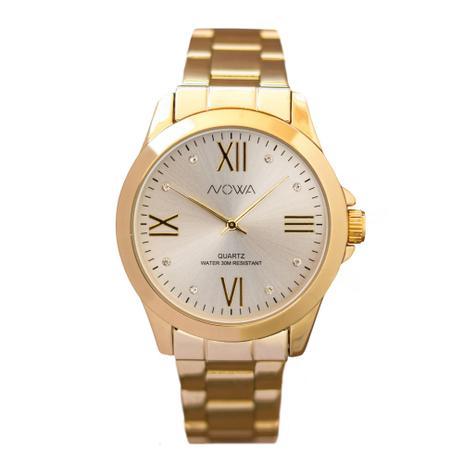 ef2b3bcd4c4 Relógio Nowa Feminino Dourado NW1017K - Relógio Feminino - Magazine ...