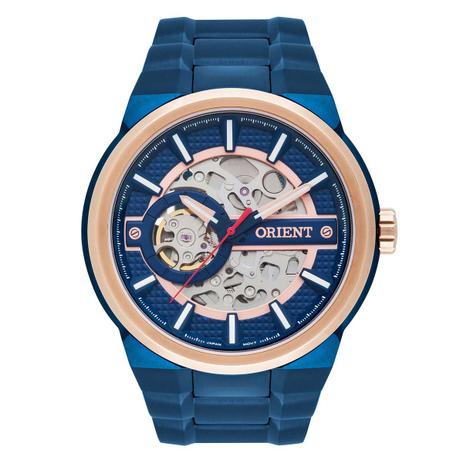 Relógio Orient Automático Masculino NH7BR001 D1DX Esqueleto ... cc72a9c6e0