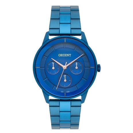 052a2901038 Relógio Orient Feminino Ref  Fassm001 D1dx Multifunção Azul ...