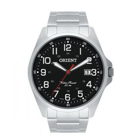 beb011710fe Relógio Orient Masculino Prata e Preto MBSS1171 P2SX - Relógio ...