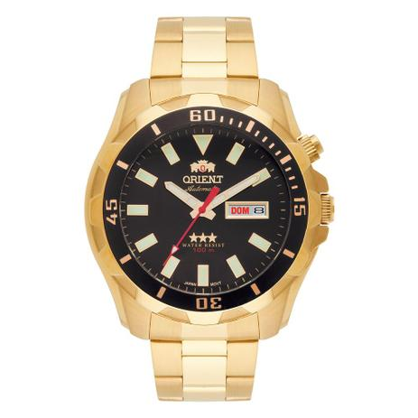 96b524103b2 Relógio Orient Masculino Ref  469gp078 P1kx Casual Automático Dourado -  Orient