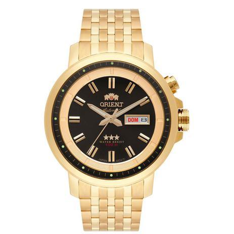 a4cac44116a Relógio Orient Masculino Ref  469gp079 P1kx Casual Automático Dourado