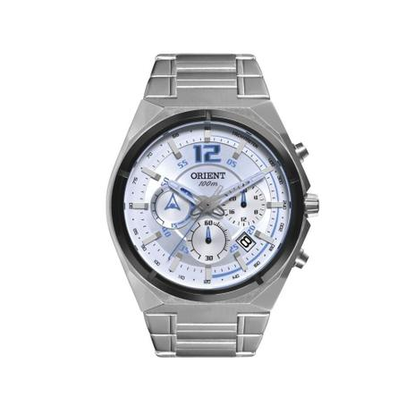 9325328aceb Relógio Orient Masculino Ref  Mbssc132 Sasx Cronógrafo Prateado ...