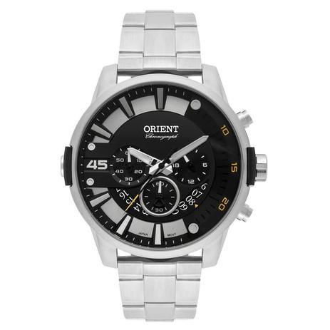24ed6de0122 Relógio Orient Masculino Ref  Mbssc190 P2sx Cronógrafo Prateado ...