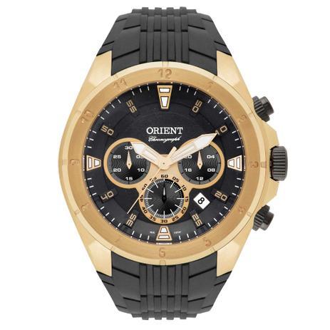b3eb9f4b43a Relógio Orient Masculino Ref  Mgspc002 P1px Cronógrafo Dourado ...