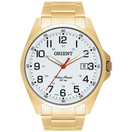 e79adf5469d Relógio Orient Masculino Ref  Mgss1048 S2kx Classico Dourado ...