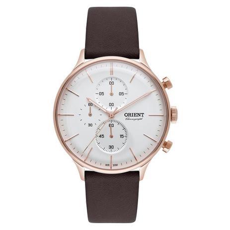 5fc476a323e Relógio Orient Masculino Ref  Mrscc014 S1nx Cronógrafo Rosê Hardlex ...