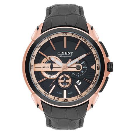 fc6fe371d92 Relógio Orient Masculino Ref  Mrscc015 P1px Cronógrafo Rosê ...