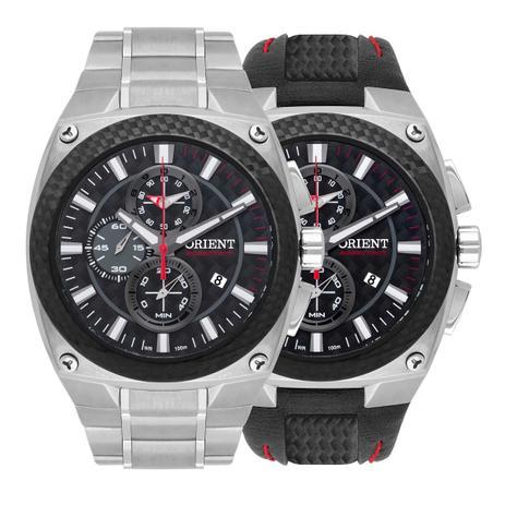 34752b6d5 Relógio Orient Masculino Troca Pulseira Cronógrafo SpeedTech Edição  Ilimitada MTFTC001 P1SX
