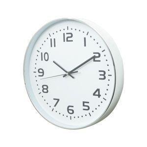 Imagem de Relogio parede plastico standart numbers branco/prata 5x32cm diam