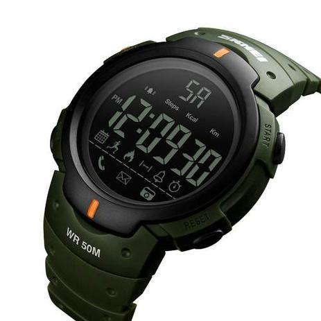 d33751af158 Relógio Pedômetro Bluetooth Calorias Distância Skmei 1301 - Relógios ...