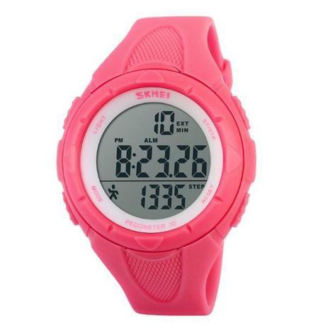 88a5982cbb4 Relógio Pedômetro Feminino Skmei Digital 1108 Rosa - Relógio ...