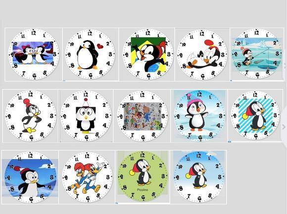 Relogio Pinguim Picolino A Turma Pica Pau Desenho Animado 80