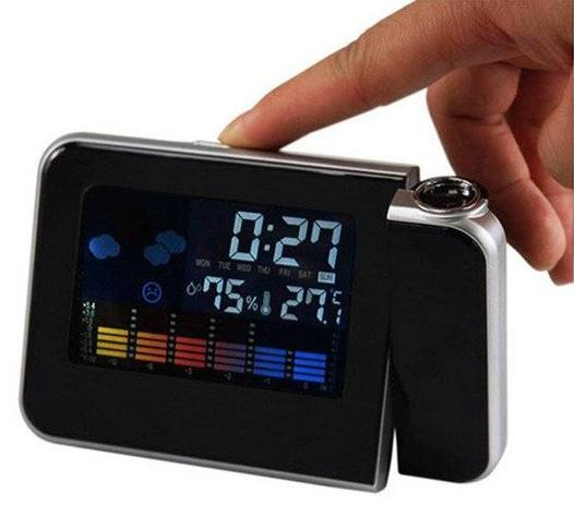 2361aa89f3d Relogio Projetor Hora Desperta e Mede Temperatura Led (DS-8190   BSL-REL-53)  - Milly presentes