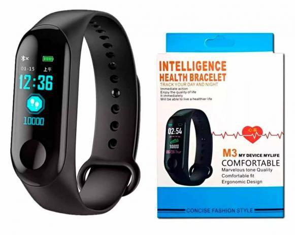 Imagem de Relogio Pulseira De Corrida Monitor Cardíaco M3 Preto