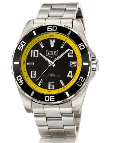 7ae2f4a63fe Relógio Pulso Everlast Caixa E Pulseira Aço E287 Masculino - Relógio ...