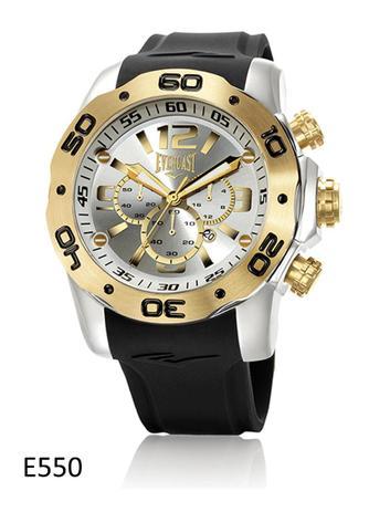d9d7fc1e769 Relógio Pulso Everlast Cronógrafo Aço e Pulseira Silicone - Relógios ...