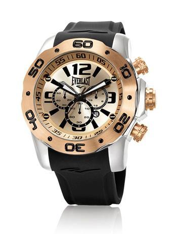 47edef65f1b Relógio Pulso Everlast Cronógrafo Aço e Pulseira Silicone - Relógios ...