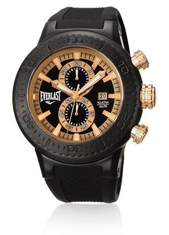 38653a60a7a Relógio Pulso Everlast Cronógrafo Pulseira Silicone E585 - Relógio ...