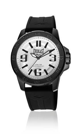 6f34cc73332 Relógio Pulso Everlast E695 Caixa Aço E Pulseira Silicone - Relógio ...