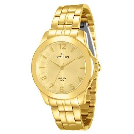 015e1f074a7 Relógio Seculus Feminino Long Life - 28746LPSVDA1 - Relógio Feminino ...