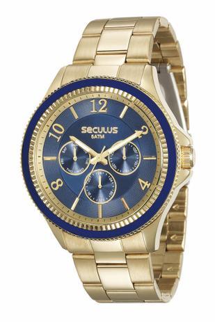 Imagem de Relógio Seculus Feminino Multifunção 28900LPSVDS1