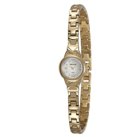 36bb839f3ce Relógio Seculus Feminino Ref  20261lpsvda1 Social Mini Dourado ...