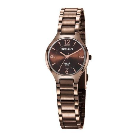 0751f257524 Relógio Seculus Feminino Ref  77042lpsvma2 Fashion Bicolor - Relógio ...