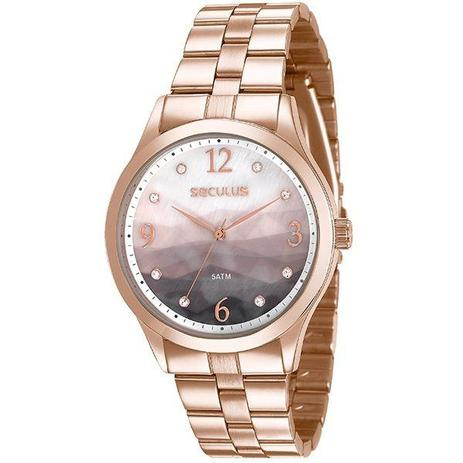 c9f5f19697d Relógio Seculus Feminino Rosê 77011lpsvrs2 - Relógio Feminino ...