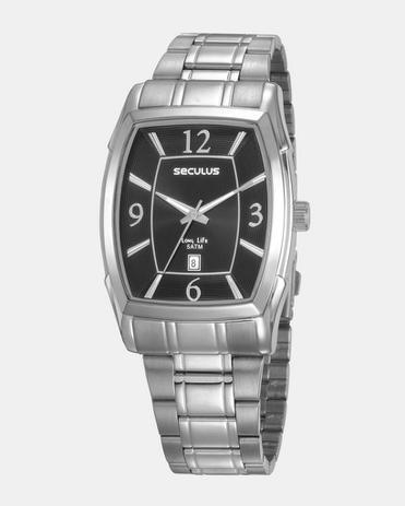 Imagem de Relógio seculus long life masculino aço prata