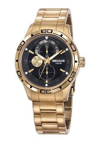 Imagem de Relógio Seculus Masculino 13041GPSVDA1 Dourado
