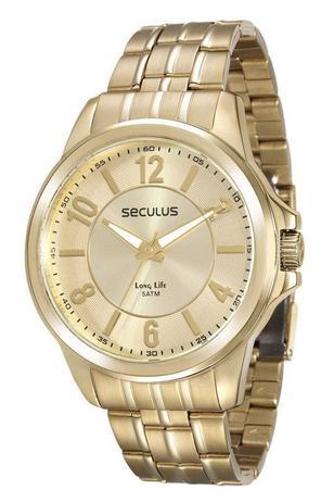 Imagem de Relógio seculus masculino 28840gpsvda2 dourado