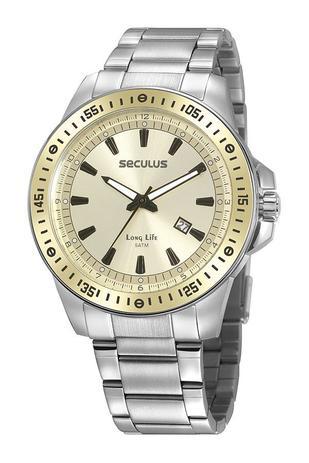 Imagem de Relógio seculus masculino aço misto 20849g0svna2