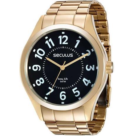 c77c4c209 Relógio Seculus Masculino Analógico Dourado 28866GPSVDA2 - Relógio ...