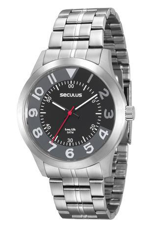 2308efef5499a Relógio Seculus Masculino Analógico Prata 20502G0SVNA1 - Relógio ...