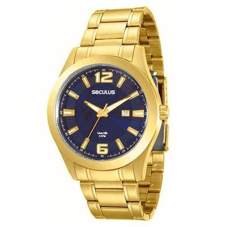 306d5631fb5 Relógio Seculus Masculino Long Life - 20409GPSVDA3 - Relógio ...