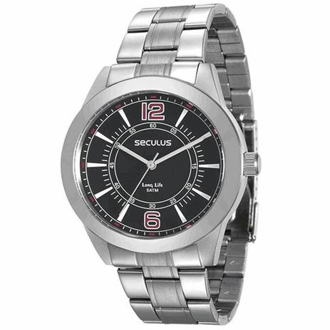 54bc577e937 Relógio Seculus Masculino Long Life Analógico 28864G0SVNA1 - Relógio ...