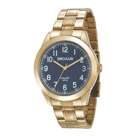 7baecf3a526 Relógio Seculus Masculino Long Life Analógico 28937GPSVDA1 - Relógio ...