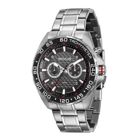 Relógio Seculus Masculino Ref  20546g0svna1 Multifunção Prateado ... 84a9cda250