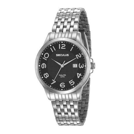 2b2a0ccf6da Relógio Seculus Masculino Ref  23601g0svna1 Clássico Prateado ...
