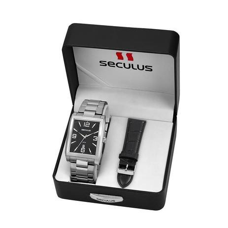 7311498132a Relógio Seculus Masculino Ref  23628g0svna1 Prateado Troca Pulseira ...