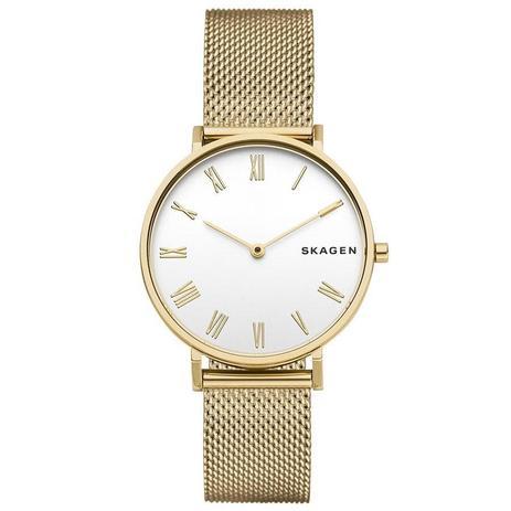 Relógio Skagen Feminino Ref  Skw2713 1dn Slim Dourado - Relógio ... 13c01fef43